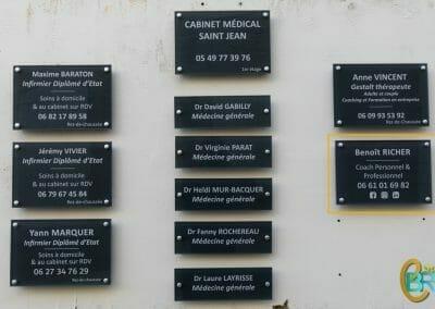 Plaque cabinet de Coaching à Niort _ Benoît Richer