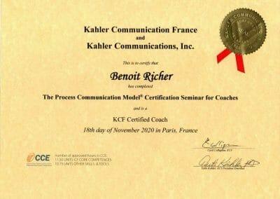 Diplôme - Coach Process Communication